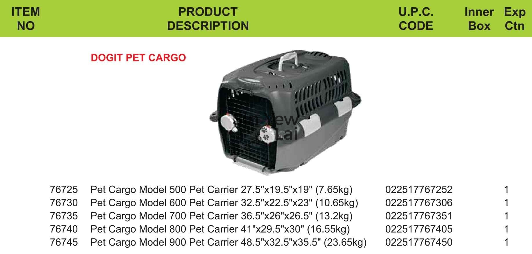 DOGIT Pet Cargo – Pet Carrier